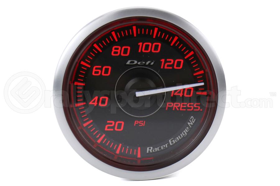 Defi DF Red Racer N2 Pressure Gauge Imperial 52mm - Universal