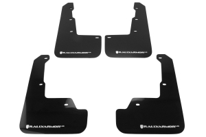Rally Armor UR Mudflaps Black Urethane White Logo ( Part Number:RAL MF32-UR-BLK/WH)