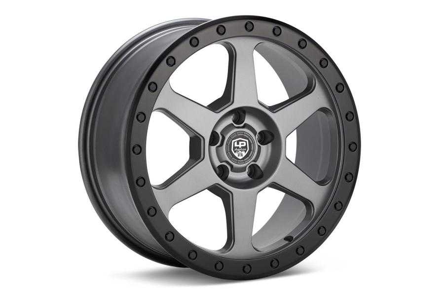 LP Aventure LP3 Wheel 18X8 +20 5x114.3 Grey w/ Black Ring - Universal