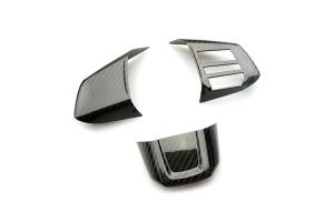Revel GT Dry Carbon Steering Wheel Insert Covers - Subaru WRX / STI 2015 - 2020
