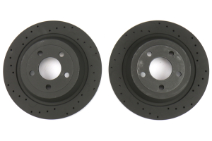 Hawk Talon Cross Drilled and Slotted Rear Rotor Pair - Ford Mustang 2015-2017