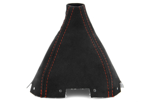 JPM Coachworks Shift Boot Black Alcantara Red Stitching For Short Shifter ( Part Number: 1003A40-R)