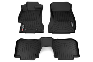 Weathertech Floorliners Black Front and Rear - Subaru Models (Inc. 2015+ WRX/STI / 2013+ Crosstrek)