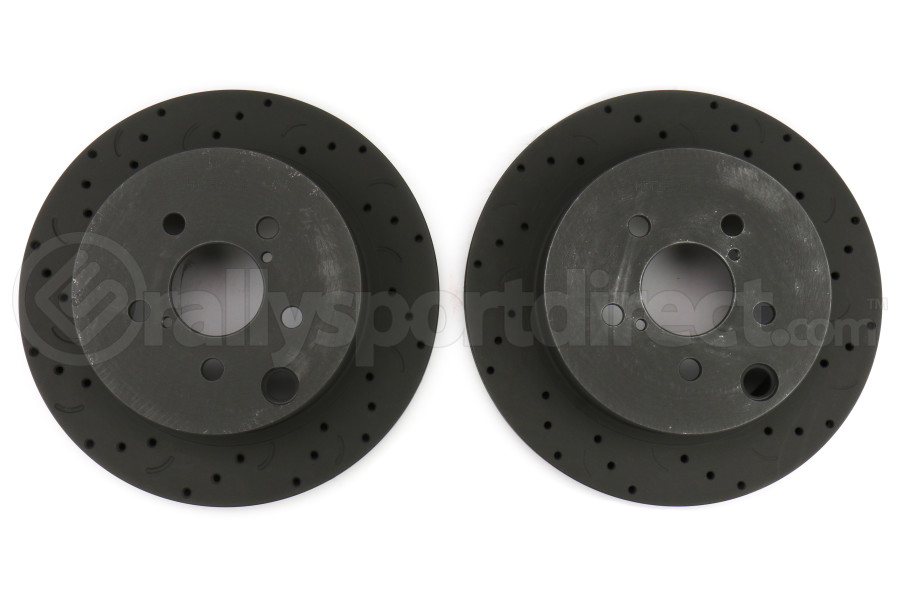 Hawk Talon Cross Drilled and Slotted Rear Rotor Pair - Subaru Forester XT 2014-2016