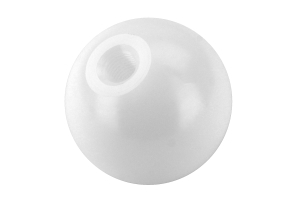Beatrush Type-Q 45mm Duracon Shift Knob White M10x1.25 - Universal