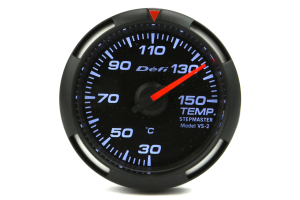 Defi White Racer Temperature Gauge Metric 52mm 30-150C (Part Number: )