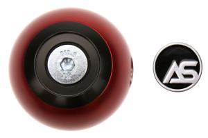 AutoStyled Subaru 5 Speed Shift Knob Black w/ Red Aluminum Center - Subaru 5MT Models (inc. 2002-2014 WRX)