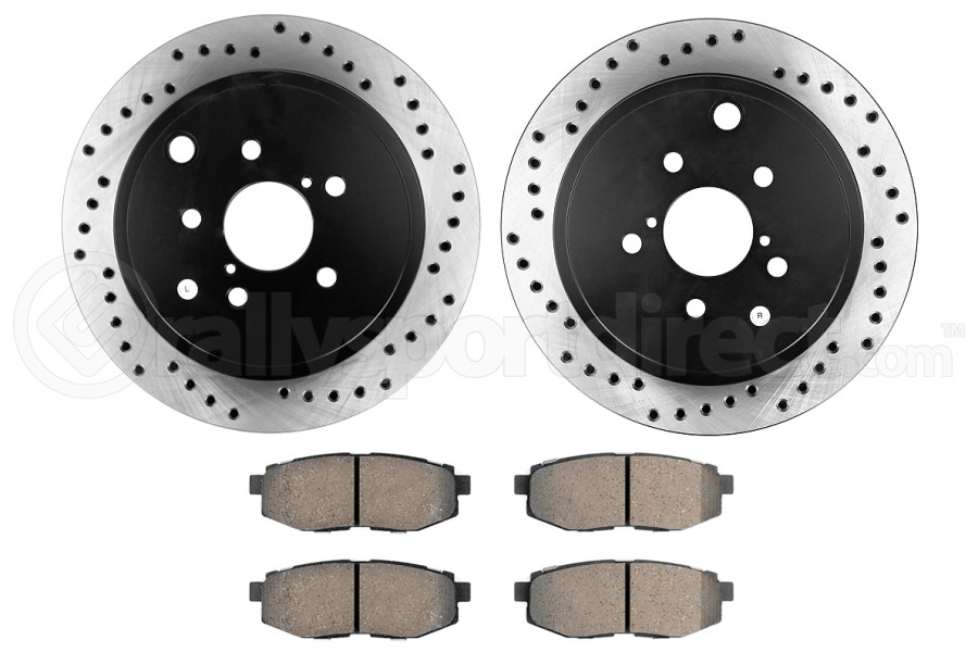 Stoptech Street Axle Pack Drilled Rear (Part Number:939.47504)