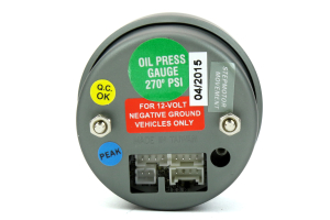 ProSport Oil Pressure Electrical w/Sender White/Green 52mm (Part Number: )