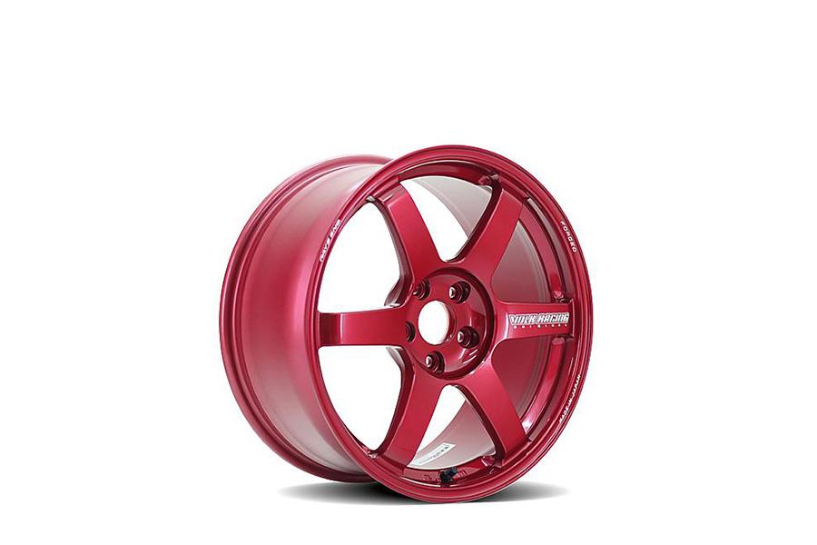 Volk TE37 SAGA 18x10 +41 5x114.3 Hyper Red - Universal