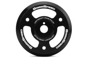 GrimmSpeed Lightweight Pulley Black ( Part Number:GRM 095023)
