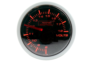 ProSport Volt Gauge 52mm Amber/White (Part Number: )