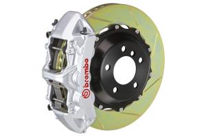 Brembo GT System 6 Piston Front Brake Kit Silver Slotted Rotors - Volkswagen Models (inc. 2015+ GTI)