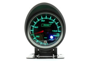 ProSport Oil Pressure Electrical w/Sender White/Green 52mm ( Part Number:PRS 216SMWGOPSWL270-PK.PSI)