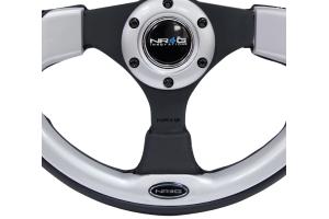 NRG Reinforced Steering Wheel 320mm Pilota Silver - Universal