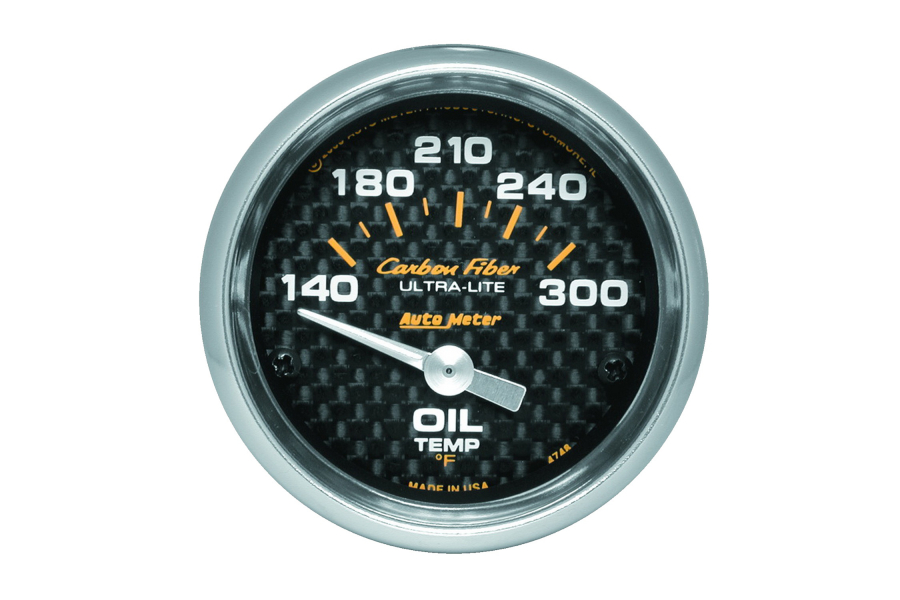 Autometer Carbon Fiber Oil Temperature Gauge Electrical 52mm - Universal