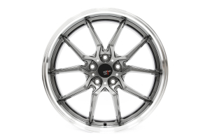 Option Lab Wheels S718 19x9.5 +35 5x114.3 Nightfall Grey w/ Machined Lip - Universal