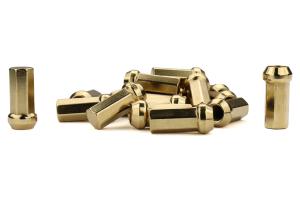KICS Kyokugen Heptagon 42mm Closed Ended Gold Lug Nuts 12x1.25 - Universal