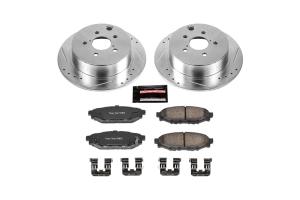 Power Stop Z23 Evolution Coated Brake Kit Rear - Subaru Models (inc. 2012-2020 Impreza / 2013-2020 Crosstrek / 2014-2018 Forester)