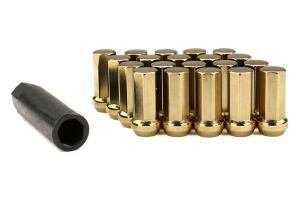 KICS Kyokugen Heptagon 50mm Closed Ended Gold Lug Nuts 12x1.50 - Universal