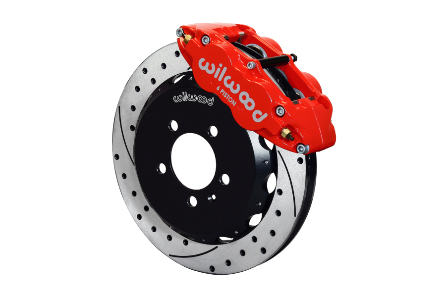 Wilwood FNSL6R 12.88in Front Kit Drilled / Slotted Red (Part Number:140-12789-DR)