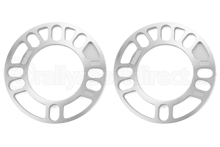 KICS Wheel Spacers 8mm Twin Pack Universal (Part Number:W008UP)