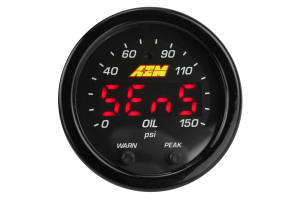 AEM X-Series Oil Pressure Gauge 0-150psi 52mm (Part Number: )