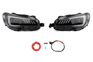 SubiSpeed LED Euro Headlights DRL w/ Hardware Kit - Subaru STI 2015-2017 / WRX 2015 - 2018