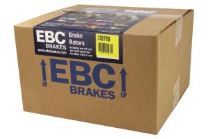 EBC Brakes S12 Front Brake Kit Redstuff Pads and RK Rotors - Subaru STI 2005-2017