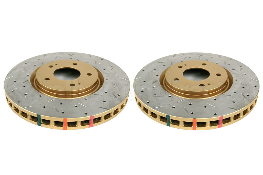 DBA 4000 Series Drilled/Slotted Rotor Pair Front (Part Number:4418XSG)