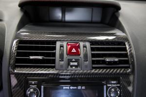 OLM S-Line Dry Carbon Fiber Center AC Vent Cover  - Subaru WRX / STI 2015