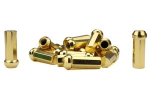 KICS Kyokugen Heptagon 50mm Closed Ended Gold Lug Nuts 12x1.25 - Universal
