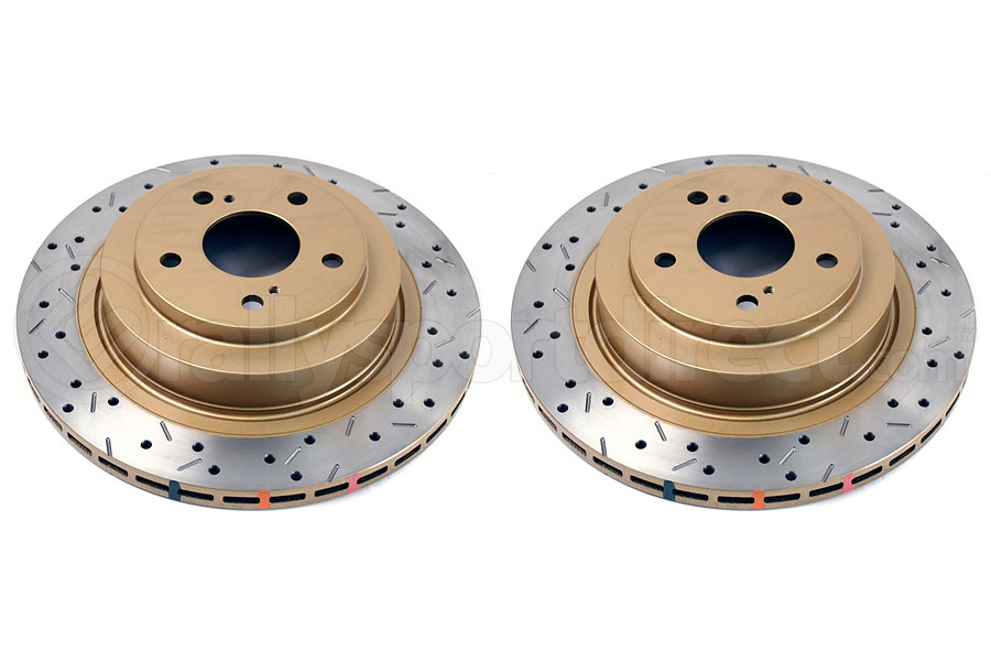 DBA 4000 Series Drilled/Slotted Rear Rotor Pair (Part Number:4653XSG)