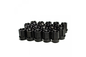 Titan 7 O.W.L. Titanium Race Lug Nuts Machine Black - Universal