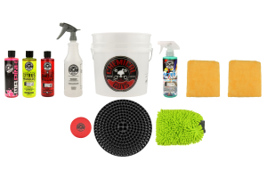 Chemical Guys Best Car Wash Bucket Kit w/ Dirt Trap (11pc) Black - Universal
