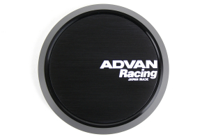 Advan Centercap 73mm Flat Type Black ( Part Number:ADV YPADCC73FB)
