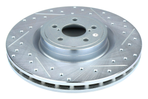 Stoptech C-Tek Sport Drilled and Slotted Rotor Single Front Left - Subaru STI 2004