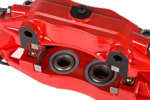 Stoptech ST-40 Big Brake Kit Front 328mm Red Zinc Slotted Rotors - Subaru Impreza 2.5RS 1998-2001