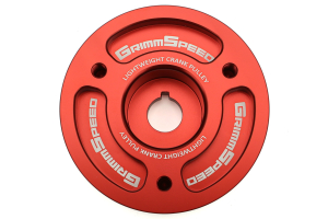GrimmSpeed Lightweight Pulley Red Most ( Part Number:GRM 095015R)