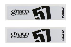 Gram Lights 57DR / 57CR Spoke Sticker White (Part Number: )