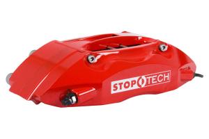 Stoptech ST-40 Big Brake Kit Front 328mm Red Drilled Rotors - Subaru Impreza 2.5RS 1998-2001