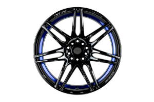 WedsSport SA-77R 4x100 Blue Light Chrome - Universal