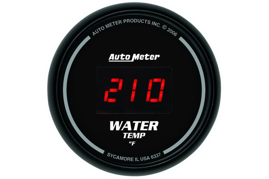 Autometer Sport-Comp Digital Water Temperature Gauge Red LED 52mm - Universal