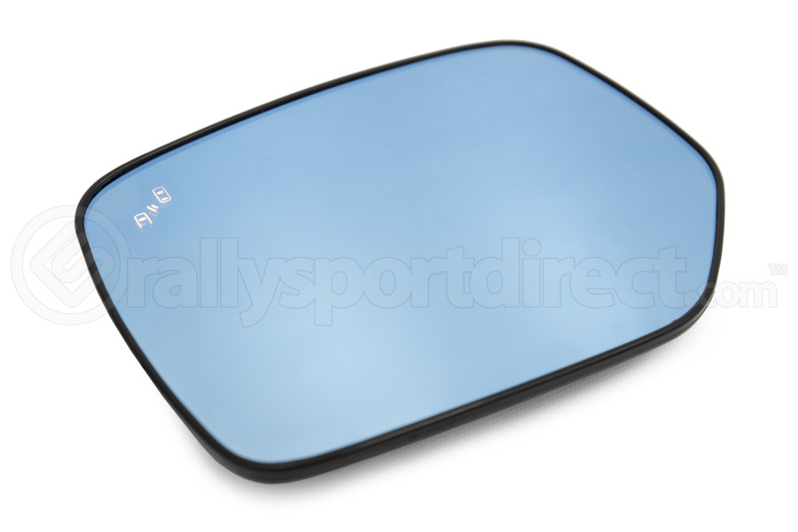 OLM Wide Angle Convex Mirrors w/ Turn Signals / Defrosters / Blind Spot Detection Blue (Part Number:MRL-14-LPBH-BSM)