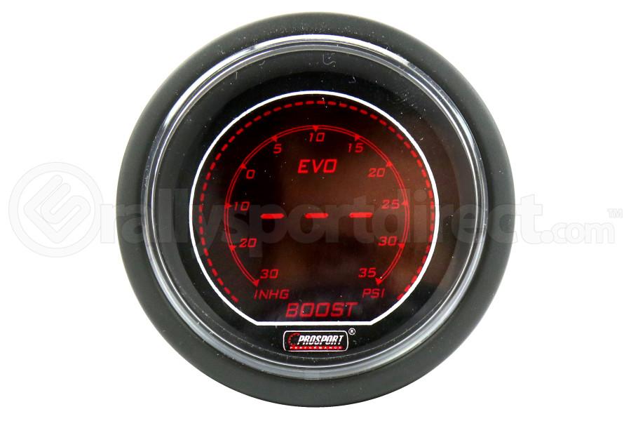 ProSport Digital Boost Gauge Electrical w/Sender Red/Blue 52mm ( Part Number:PRS 216EVOBO.PSI)