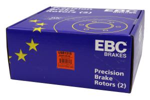EBC Brakes USR Series Sport Slotted Rear Brake Rotors - Mazdaspeed3 2007-2013