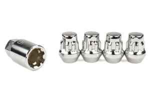 KICS Bull Lock Wheel Lock Set 19mm 12X1.25 Chrome - Universal