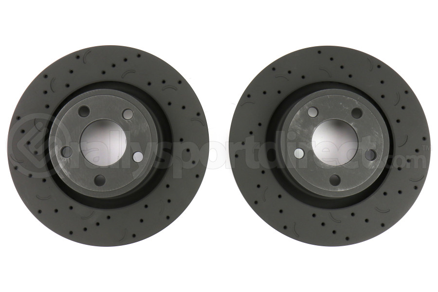 Hawk Talon Cross Drilled and Slotted Front Rotor Pair - Ford Mustang 2015-2017