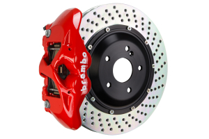Brembo GT Systems Monobloc 4 Piston 345mm Cross Drilled Red - Honda Civic Type R/SI 2017+