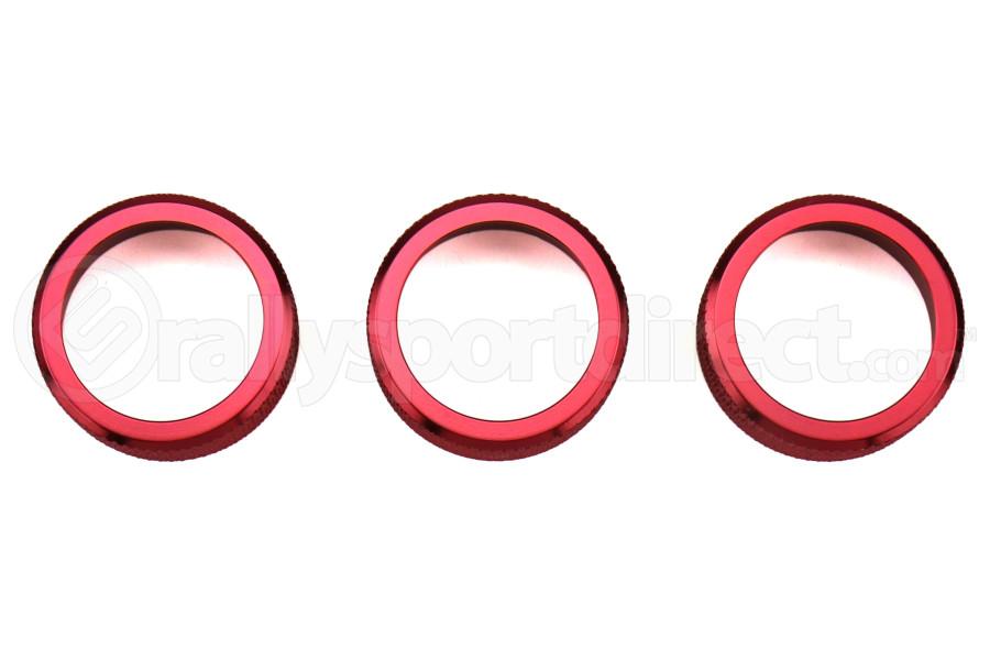GCS Anodized Aluminum Dual Climate Control Knob Trim Red (Part Number:GCSDLKNOB02)